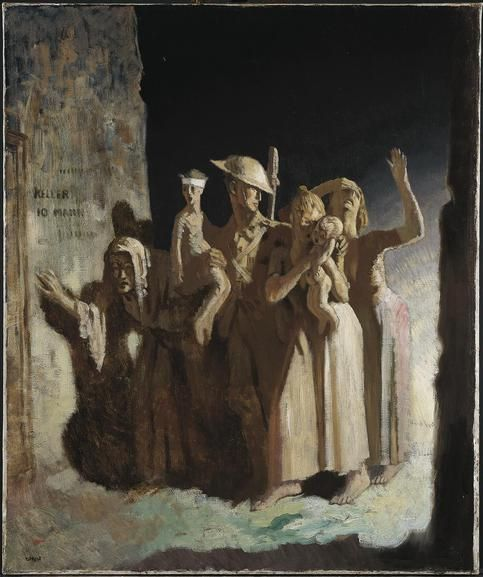 Bombing: Night, 1918, by William Orpen. Imperial War Museums