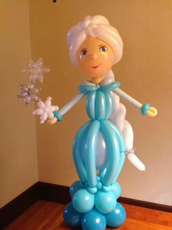 Elsa frozen decoration ideas con globos pinterest for Frozen balloon ideas