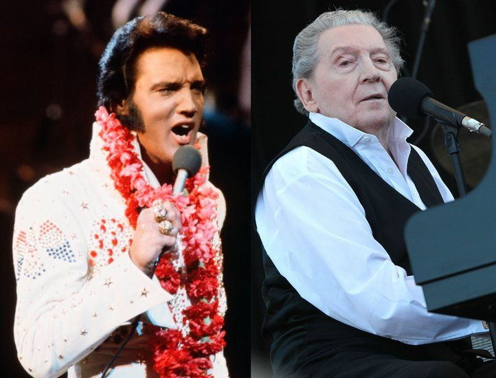 Elvis Presley and Jerry Lee Lewis. BORN THE SAMEYEAR