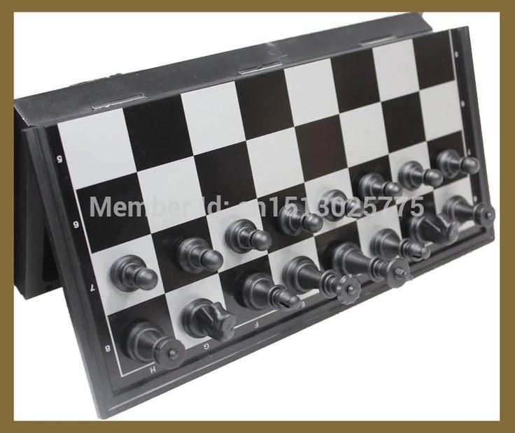 Бесплатная доставка магнитная шахматные фигуры комплект стонтон стиль шахматные фигуры коллекция портативный складной совета Chesses игры