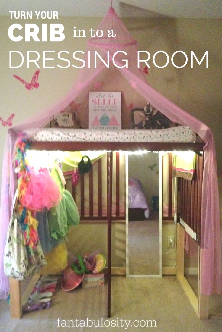 Turn your crib in to a dressing room!  Boy or Girl, any kid would love this for their costumes! http://fantabulosity.com