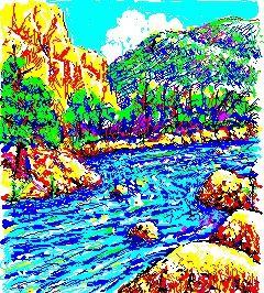 Vi un río de Agua de Vida claro como el cistal (Apoc. 22, 1)