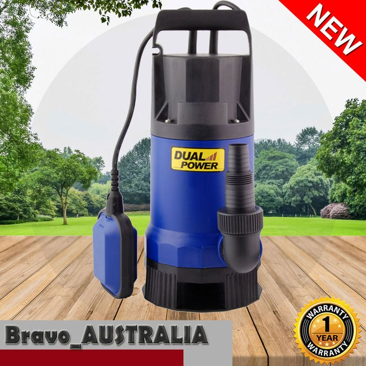 Submersible Dirty Water Pump Garden Clean Grey Water Transfer Flood Sump Drain
