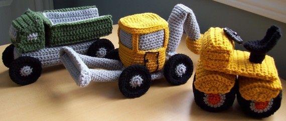 Monster Trucks...PDF Crochet Pattern van KTBdesigns op Etsy