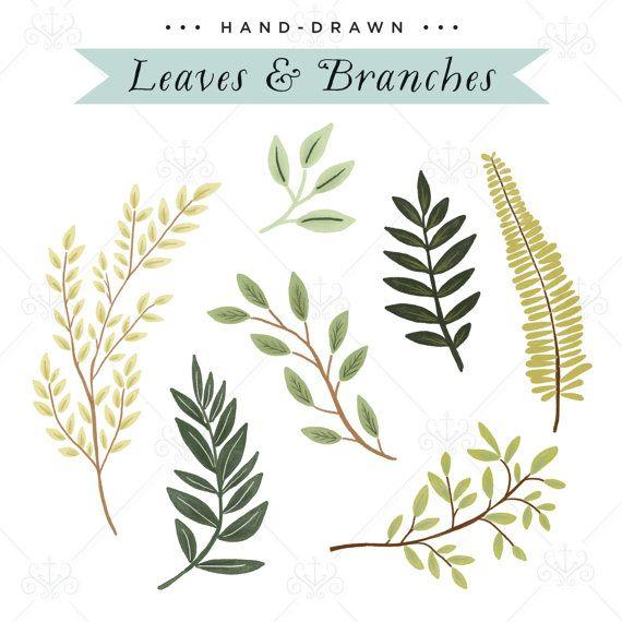 Leaves & Branches Vector - Digital Illustration - Clip-Art Set