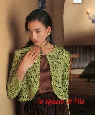 Collezione di bolero all'uncinetto con schemi / Crochet Bolero collection, with patterns