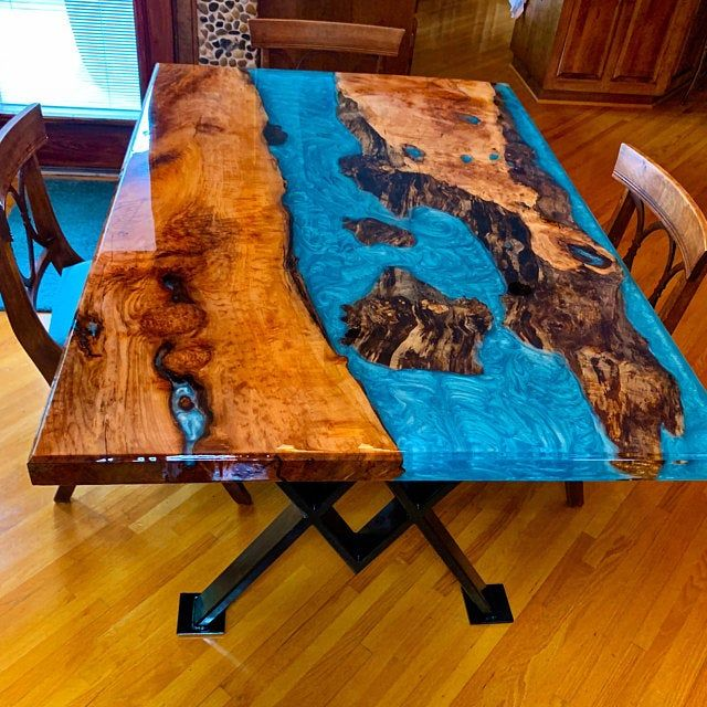 River Dining Table Etsy In 2020 Wood Resin Table Epoxy Wood
