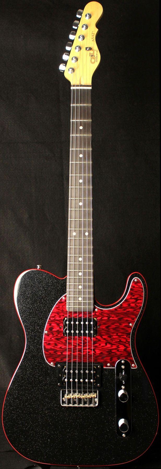 G&L Guitars ASAT® Deluxe, Galaxy Black Metallic finish over Western Sugared Pine