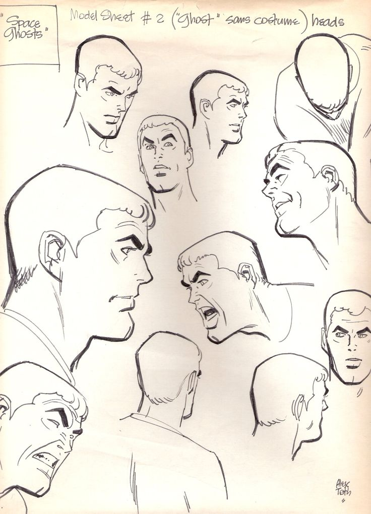 Space Ghosts by Alex Toth via tothfans.com - The Official Alex Toth Website