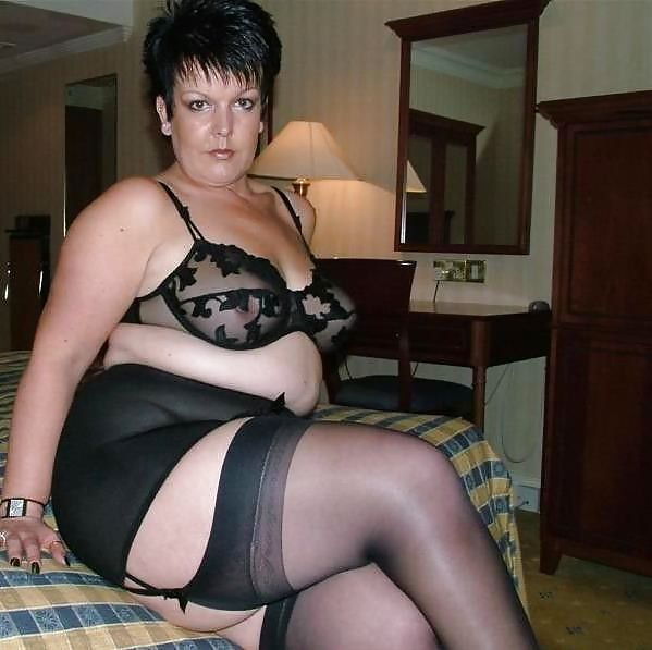 Bbw stockings wearing fat mature