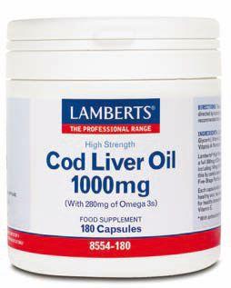Aceite de higado de bacalao importantes para: El bienestar del corazón. El bienestar articular. Mantener una piel en buen estado.  http://www.denatural.es/tension-y-colesterol/aceite-de-higado-de-bacalao-1000mg-180-capsulas