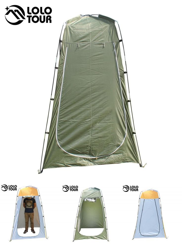 [Visit to Buy] Outdoor Toilet Tent Camping Shelter Portable Shower Tent Changing Room Privacy Tente Ultralight Army Green White #Advertisement