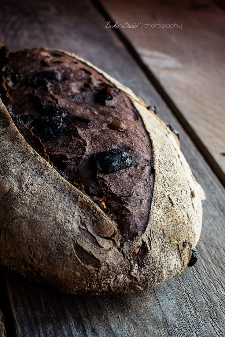 "Chocolate Stout Bread with Hazelnuts ~ via this blog, ""Bake-Street"" (Artisan Chocolate Photography)"