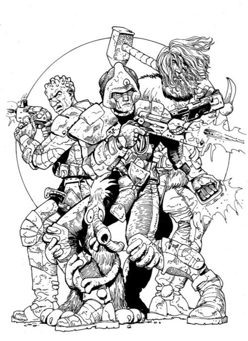 Carlos Ezquerra - Strontium Dog, Wulf and Middenface McNulty