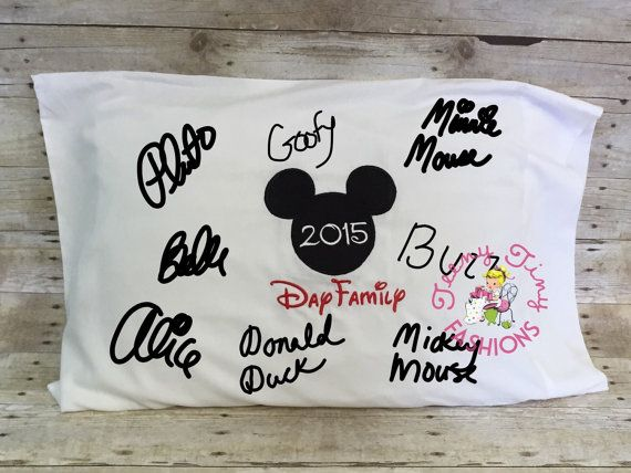 Diy Autograph Pillowcase: The 25+ best Disney autograph ideas ideas on Pinterest   Disney    ,