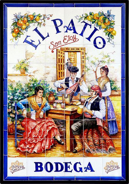 Azulejos. Bodega El Patio de San Eloy (Madrid)
