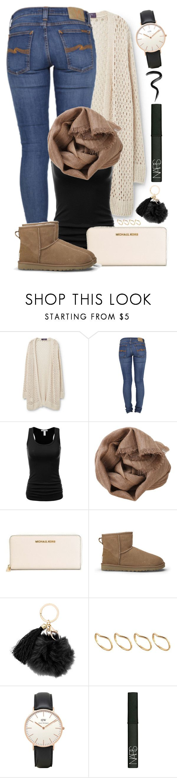"""""""#33"""" by oneandonlyfashion ❤ liked on Polyvore featuring Violeta by Mango, Nudie Jeans Co., Brunello Cucinelli, MICHAEL Michael Kors, UGG Australia, ASOS, Topshop, NARS Cosmetics and Laura Mercier"""
