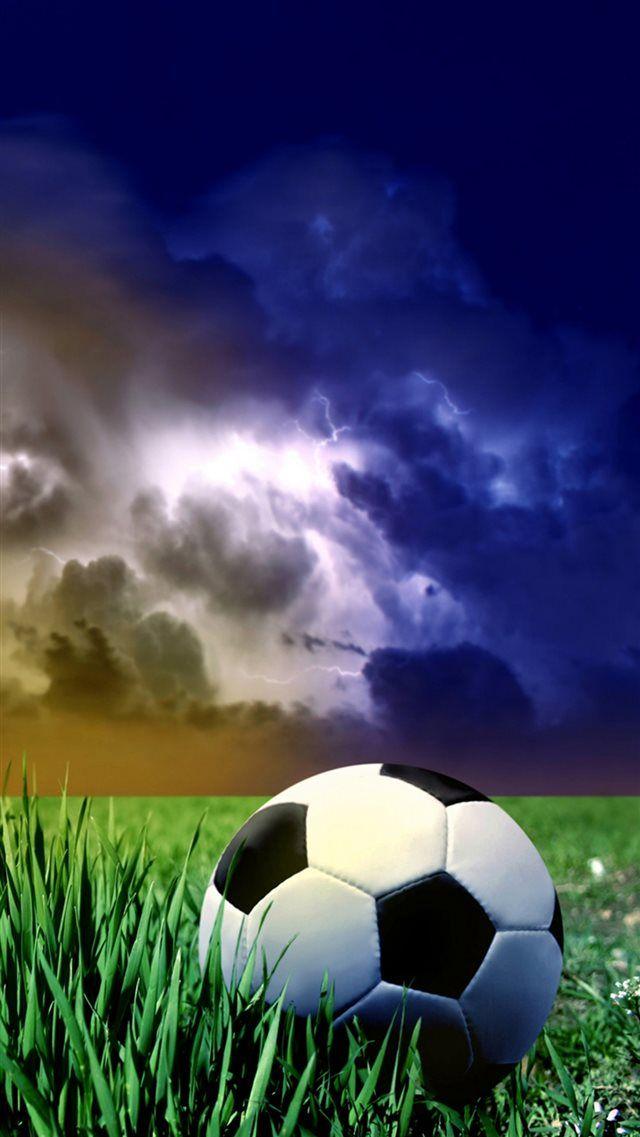 Storm Clouds Sky Grass Land Football Sport Iphone 8 Wallpaper Football Wallpaper Soccer Pictures Football Wallpaper Iphone