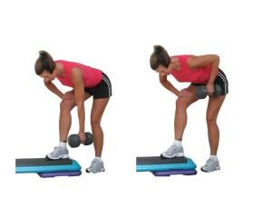Try this Total Body Home Workout with Dumbbells - Great for Beginners: One Arm Row