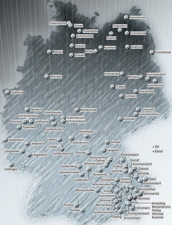 Triste Ortsnamen in Deutschland