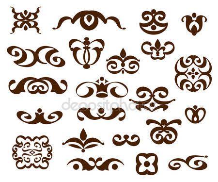 Dísznövény tervezőelemek, vektor sorozat — Stock Vektor © Vlades911 #110861348