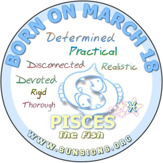 Pisces March 18 – Birthday Horoscope Personality Characteristics