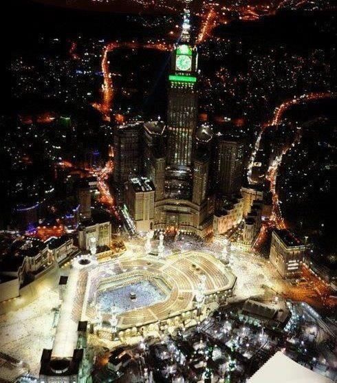 Night view in Wonderful Mecca