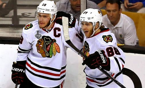 How are you feeling, +Chicago Blackhawks  fans? Jonathan Toews and Patrick Kane…