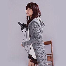 Women's New Fashion Girls Hoodie Coat Cardigan Sweater Long Sleeve