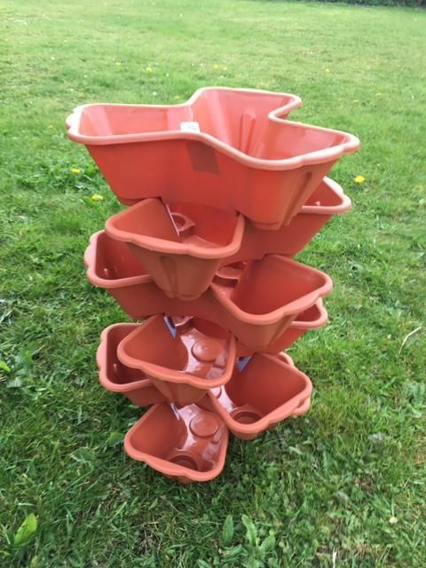 6x Stacking 3 Section Strawberry Plant Pot Garden Terracotta Plastic Feature New in Garden & Patio, Plant Care, Soil & Accessories, Baskets, Pots & Window Boxes | eBay