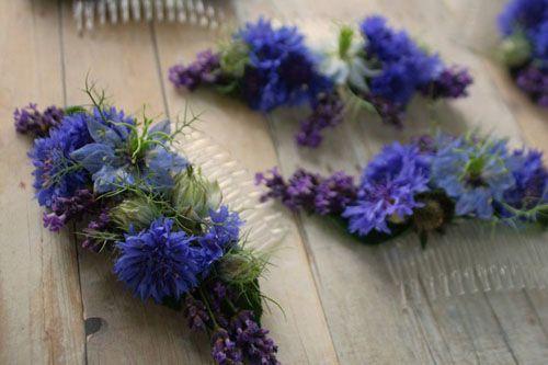 love n fresh flowers hair clip blue