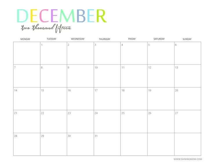 Best  Monthly Calendar Template Ideas On   Print A
