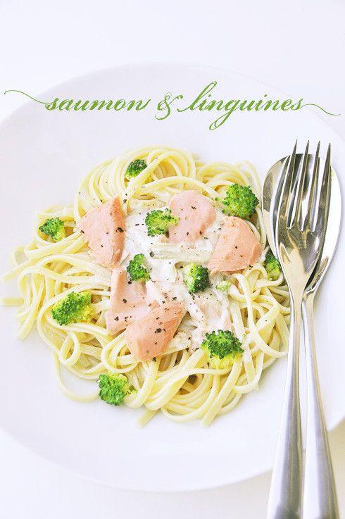 Linguines au saumon et brocolis - recette facile - la cuisine de Nathalie
