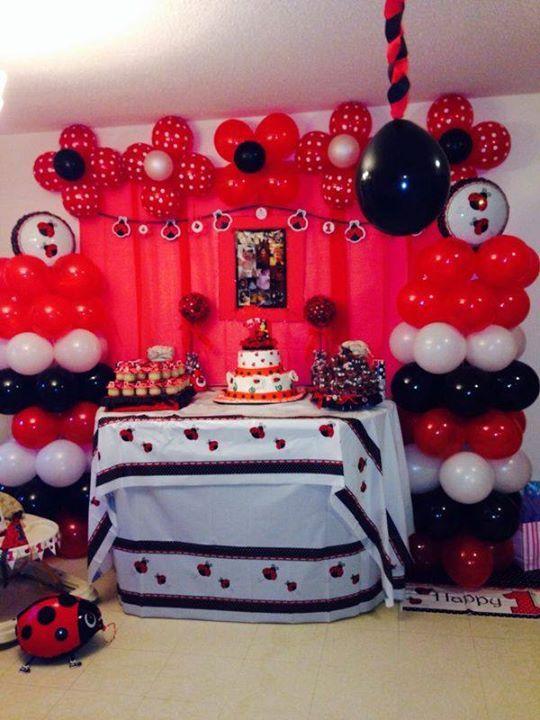 ladybug 1 st birthday decoration