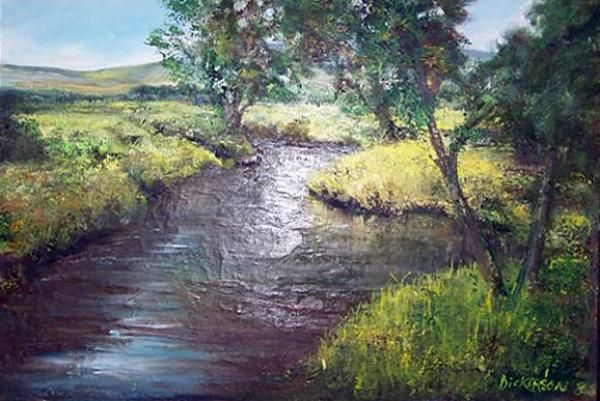 A quiet midlands stream by Marlene Dickerson
