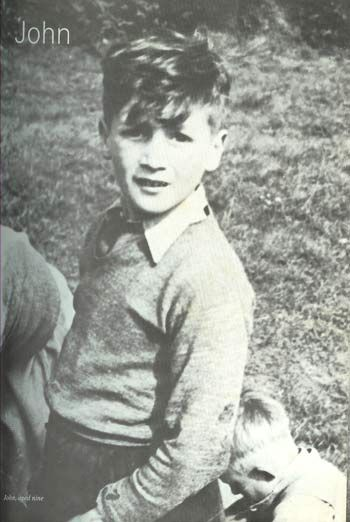 John Lennon, in the late 1940s.