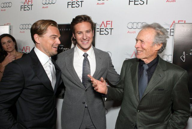 Leonardo DiCaprio, Clint Eastwood and Armie Hammer at event of J. Edgar (2011)