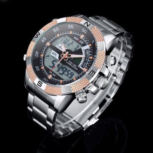 WEIDE Sport Men's Analog Digital Waterproof Back Light Watch #Weide #LuxurySportStyles