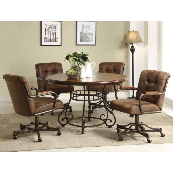 Dining Room Chairs On Wheels Simply Simple Awes Dining Room Chairs Dinette Chairs Caster Chairs