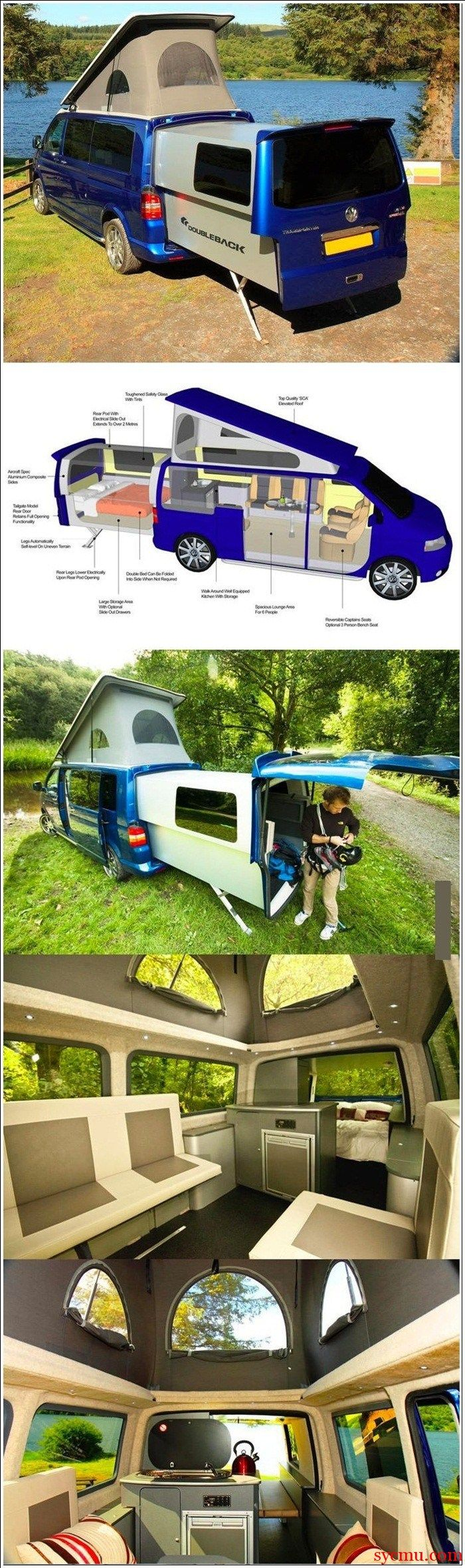 RV Mini Van turns into house
