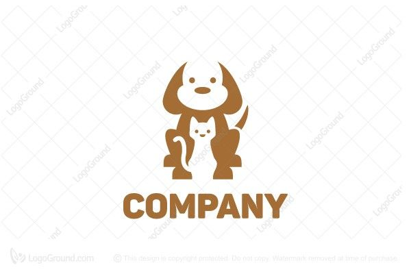 Logo for sale: Dog And Cat Logo