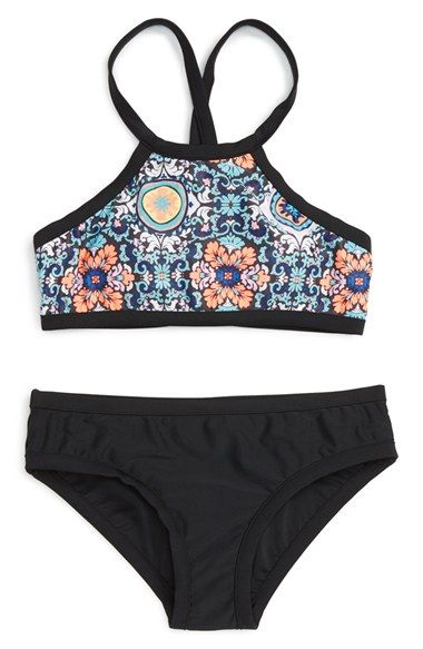 Seafolly 'Gypsea' Two-Piece Swimsuit (Big Girls)