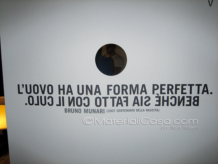 #Architetto Bruno #Munari, citazioni :-)  Da qualche parte, #Salone del #Mobile 2007