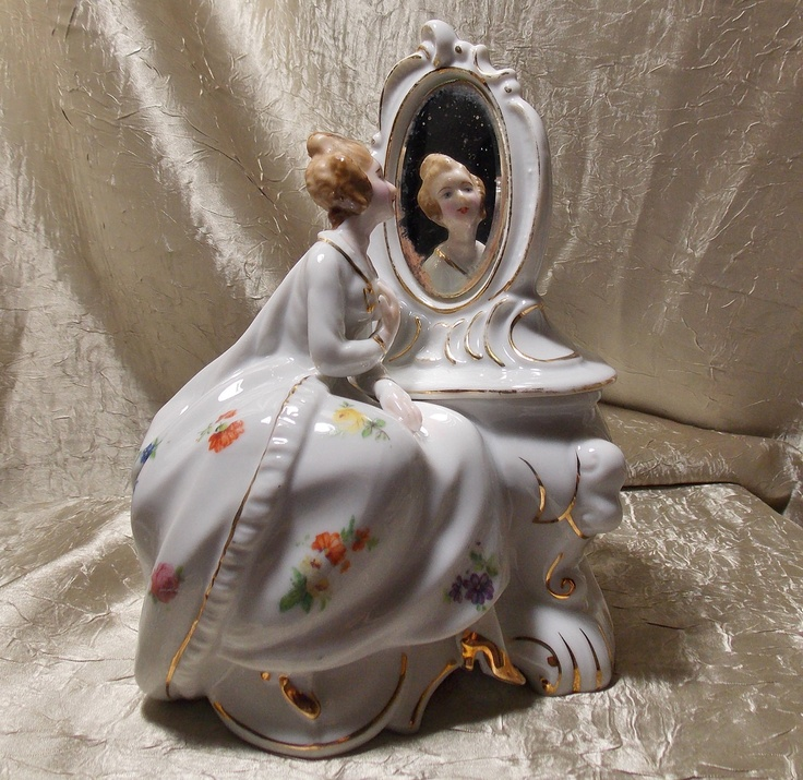 Old Lady Knitting Cake Topper : Best images about vintage porcelain figurines on