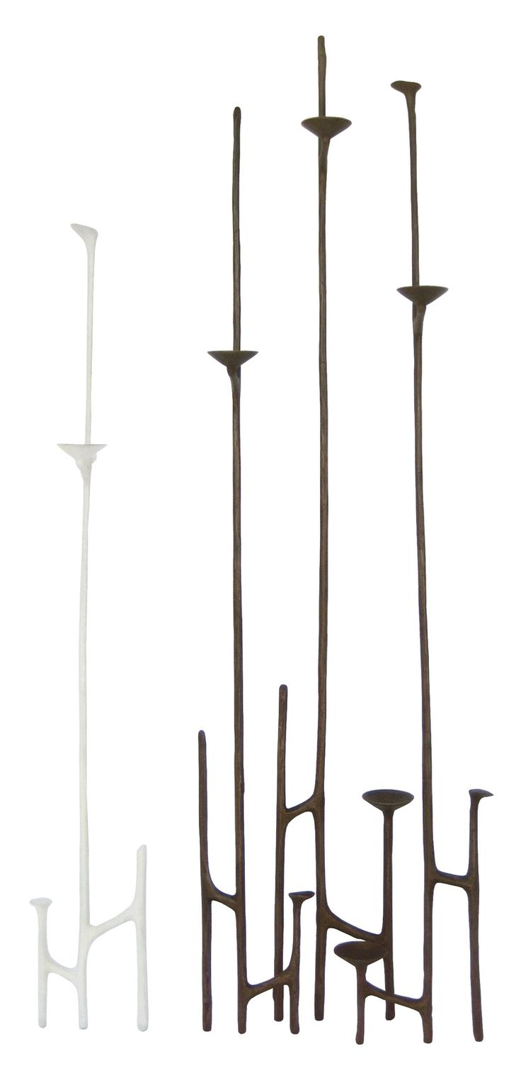 best  midcentury candleholders ideas only on pinterest  - lean to bronze candlestick