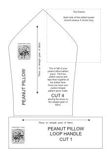 Peanut Pillow Free Pattern