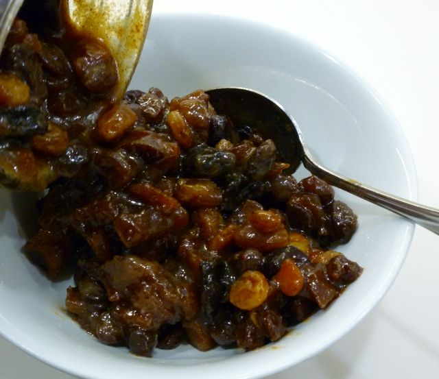Fruit mince is traditionally used to make Fruit mince pies at Christmas time.