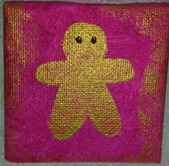 mini canvas gingerbread mini canvas Christmas mini canvas