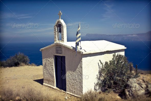 White chapel in Grece ...  Santorini, aegean, architecture, balcony, bell, blue, building, card, catholic, christianity, church, cliff, coast, coastline, countries, crete, dome, easter, europe, european, flag, greece, greek, holiday, house, island, landmark, landscape, mediterranean, nature, oia, outdoors, postcard, religion, sea, sky, summer, symbol, temple, tourism, traditional, travel, vacation, view, village, water, white