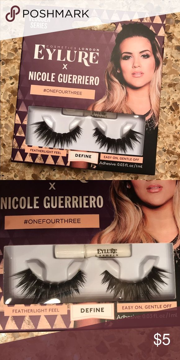 Eyelure x Nicole Guerriero lashes Never used and brand new eyelure Makeup False Eyelashes